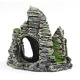 LAMEIDA Aquarium Deko Decor Stein Ornament mit Höhle