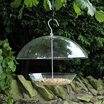 Kingfisher Large Clear Adjustable Wild Bird Dome Feeder - Multi Deals Available from Bonnington Plastics