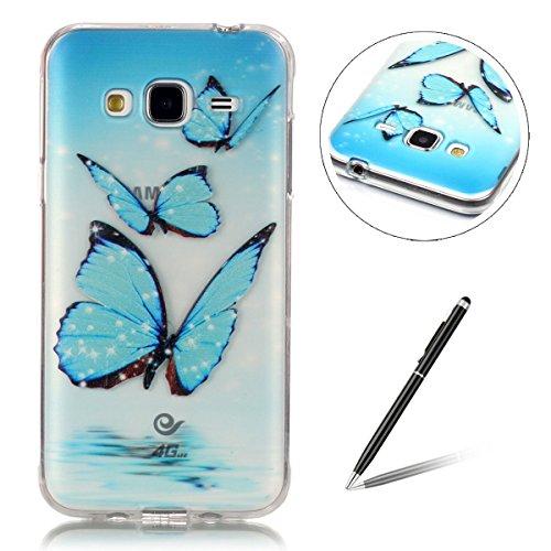 samsung-galaxy-j3-casesamsung-j3-casefeeltech-free-stylus-soft-clear-basso-relievo-tpu-gel-colorful-