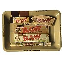 Minibandeja Raw, papeles, puntas, alfombrilla de bambú, juego para fumar, un perfecto regalo para ti o tus seres queridos, de Trendz