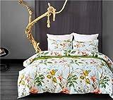 Rosseae Bettwäschesatz 100% Polyester Duvet Bettwäsche Bettbezug Kissenbezüge Koffer Set bunten Design, 3 Farbe (Farbe : Grün, Größe : Small)