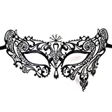 Foxnovo Venetian Style Diamante Metal Filigree Masquerade Mask