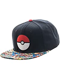 Pokemon Pokeball Patch Sublimated Bill Snapback Baseball Cap