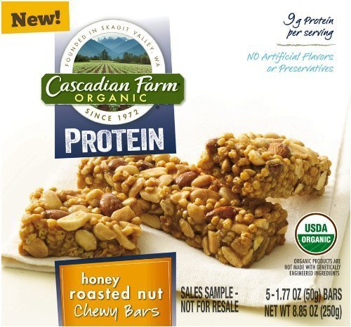 cascadian-farm-organic-protein-honey-roasted-nut-chewy-bars-885oz-box-pack-of-4-by-small-planet-food