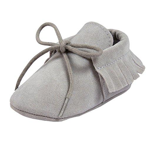 Etrack-Online , Chaussures premiers pas pour bébé (fille) Deep Blue 6-12 Month Gris clair