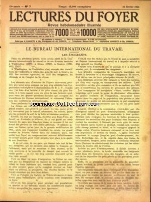 LECTURES DU FOYER [No 7] du 16/02/1924