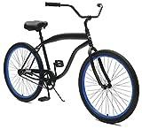 Critical CyclesChatham Beach Mens' Cruiser Bike Matte Black/Deep Blue, 26