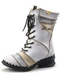6e798983780f TMA Dvina Damen Stiefeletten Leder Boots Stiefel Winterstiefel Gefüttert  Schuhe 5199