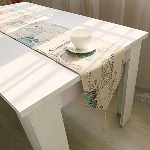 Good01 rectangle exquis Papillon Motif Nappe Home Housse de table Décor, beige, 140cm x 160cm
