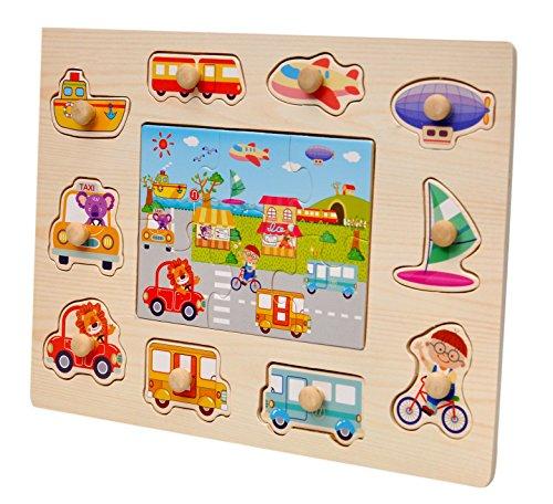 Toyshine Wooden Puzzle Toy, Educational and Learning Toy - Vehicles Puzzle