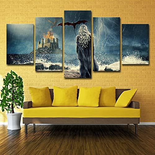 Moderne Leinwand Wandkunst Auto Bild Hd Print 5 Stück Wohnkultur Modulare Chevelle Plakatrahmen kein rahmen L: 12X18-2P12X24-2P 12X30-1P -
