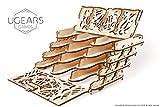 UGEARS Puzzle 3D Rompicapo Legno - Porta Carte da Gioco - Card Holder Fai da Te Kit di Costruzione - Scatola Cofanetto Supporto per 12 Mazzi Carte per Giochi di Tavolo Modellino Meccanico per Adulti