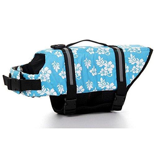 mweste Oxford Atmungsaktives Mesh Sommer Hund Bademode Welpen Schwimmweste Sicherheit Kleidung Für Hunde Größen XXS-XXL , blue , xxs (Welpen Bauch Baby Kostüm)
