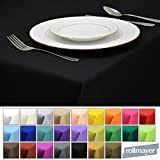 Rollmayer Tischdecke Tischtuch Tischläufer Tischwäsche Gastronomie Kollektion Vivid (Schwarz 34, 140x240cm) Uni einfarbig pflegeleicht waschbar 40 Farben