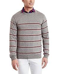 Gant Mens Cotton Sweater (8907259507019_GMWIF0006_XX-Large_Grey Melange)