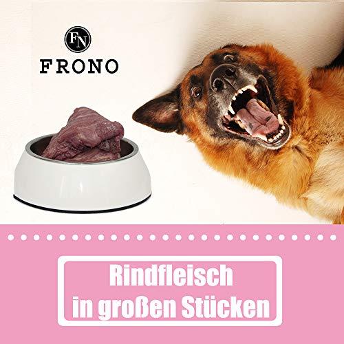 Frostfutter Nordloh Barf-Paket Rindfleisch in großen Stücken 7 x 2000 g, Barffleisch für Hunde mit Allergien -