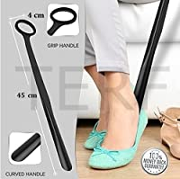 TERF Extra Long Handle Durable Easy-Grip Hanging Hole Shoe Horn - 45cm