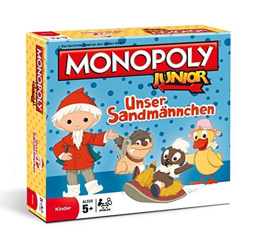 Winning Moves 44574 – Monopoly Junior Unser Sandmännchen Sandmann Brettspiel Spiel Gesellschaftsspiel