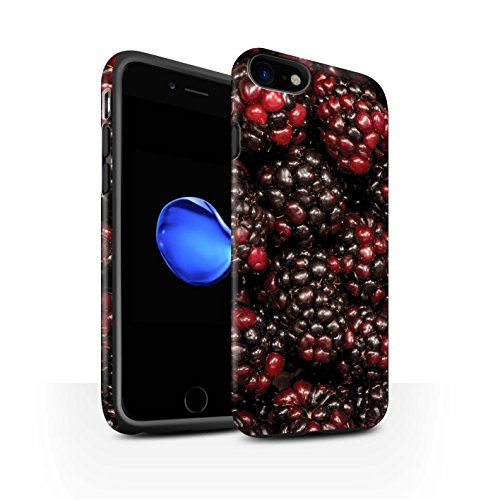 STUFF4 Matte Harten Stoßfest Hülle / Case für Apple iPhone 8 / Wassermelone Muster / Saftige Frucht Kollektion Johannisbeer