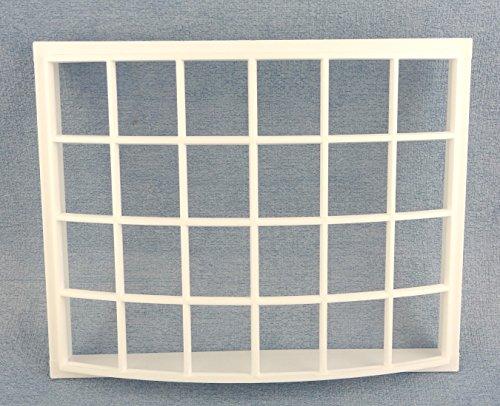 fenster puppenhaus Melody Jane Puppenhaus weiß Kunststoff Georgischer Bay Schleife Fenster 24 Ausschnitt 1:12 DIY Builders