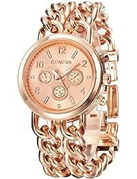 Sannysis reloj mujer banda de acero inoxidable - Oro Rosa
