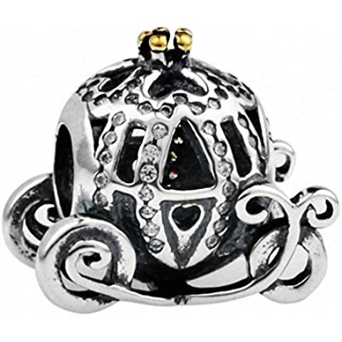 TAOTAOHAS Antico Argento Sterlina Decorativo Charms Beads Perline [trasporto principessa, Crystal