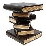 Bücherhocker Nachttisch Beistelltisch Hocker Podest Buch Stapel 40cm Holz Akazie Dunkelbraun Schwarz Creme Inkl. Südostasien Bildband als PDF Datei