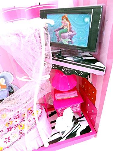 Brigamo 83072 – Princess Puppen Kleiderschrank inkl. Modepuppe und Kleider - 3