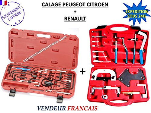 Coffrets calage Courroie Distribution moteur essence/diesel PEUGEOT CITROEN + RENAULT pas cher