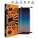 #1: ELV Galaxy S9 Plus Screen Protector Anti-Fingerprints with 3D Full Coverage, Tempered Glass Screen Guard for Samsung Galaxy S9 Plus (2018)