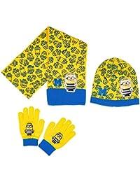 Echarpe, bonnet et gants enfant garçon Les Minions Jaune/bleu de 3 à 9ans