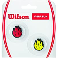 Wilson Reductor de vibraciones de llama para raqueta, Vibra Fun, Pack de 2, Rojo/Amarillo, WR537400