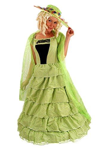 Kostüm Kolonial (DRESS ME UP - KOLONIAL Kostüm KLEID Barock BIEDERMEIER Südstaaten Gr)