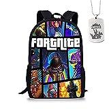 Fortnite School Backpack, Student Backpack College Bookbag Mochila de viaje Daypack Mochila informal para chicas adolescentes Niños y mujeres