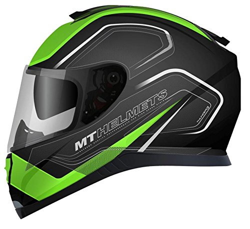 MT - Casco Integral Thunder 3 SV TRACE Negro Verde Mate (XL)