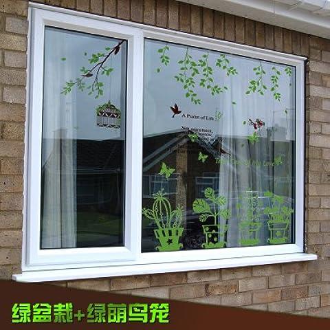 Camera da letto soggiorno semplice verde fioriere