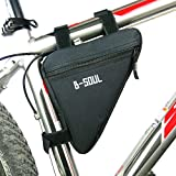 Ciclismo marco bolsa portaequipajes cesta triángulo ciclismo delantera para bicicleta tubo de la estructura bolsa bolsa para sillín, negro