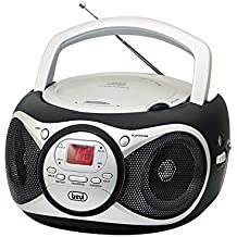 Trevi CD 512 - Radio CD (Digital, AM, FM, 87.5 - 108 MHz, Jugador, CD, CD-R, CD-RW, 6W) Negro, Plata
