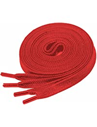 Flat Waxed Cotton Shoe Laces for Unisex Trainers Multiple colors and sizes