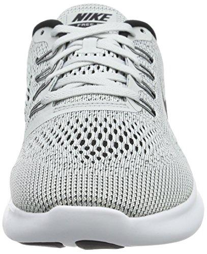 Nike Herren Free RN Laufschuhe Grau (White/Black-Pure Platinum)