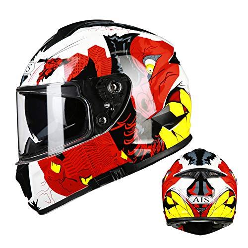 Bluetooth Motorrad Helm Kabellos HD-Doppellinse Eingebautes Mikrofon Binaural Stereo Musik Einstellbare Sonnenblende Anrufe beantworten Off-Road,M