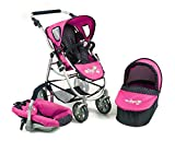 Bayer CHIC 2000 637 12 - Set Passeggino 3 in 1 Emotion all in, a Pois, Blu/Rosa