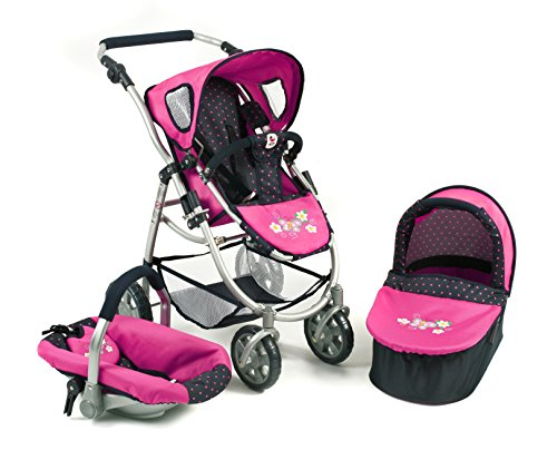Bayer Chic 2000 637 3 in 1 Combi EMOTION ALL IN, Dots, Blue/Pink 51SwVOFdduL