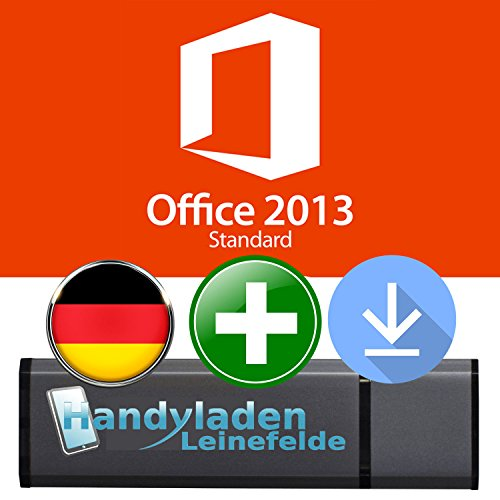 Microsoft® Office Professional 2013 ISO USB. 32 bit & 64 bit - Original Lizenzschlüssel mit bootfähigen USB Stick von - HANDYLADEN-LEINEFELDE®