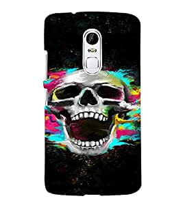 PrintVisa Colorful Modern Art Skull 3D Hard Polycarbonate Designer Back Case Cover for LENOVO Vibe X3