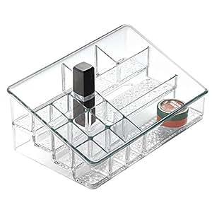 interdesign rain rangement pour cosm tiques de coiffeuse pr vu pour cosm tiques produits de. Black Bedroom Furniture Sets. Home Design Ideas