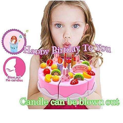 Birthday Singing Cake Jouet - BigNoseDeer Play Party Cake avec la musique Chante