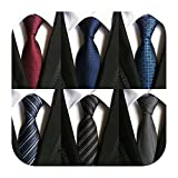 WeiShang Lot 6 PCS Classic Men's 100% Silk Tie Necktie Woven JACQUARD Neck Ties (Style 13)