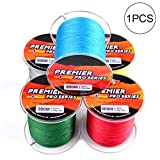 Supermacht Geflochtene Angelschnur 4 Strang Stronger Multifilament PE Braid Draht für Salzwasser 10LB 328yards Super Strong Superline - Farbe Random