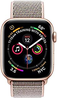 Apple Watch Series 4-44mm Gold Aluminum Case with Pink Sand Sport Loop, GPS, watchOS 5
